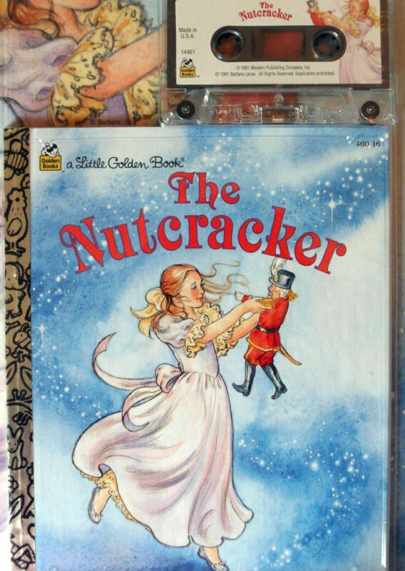 NUTCRACKER 14461 Little Golden Read Along Book & Cassette Tape Set SEALED