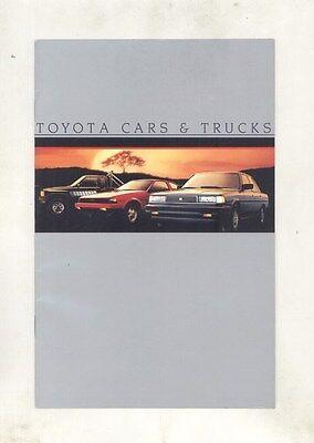 1985 Toyota Corolla Supra Celica GTS Cressida SR5 Truck Brochure my6632