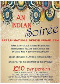 An Indian Soirée Theme night 12th May