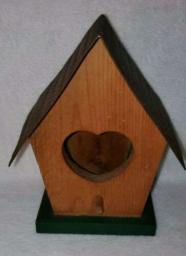 Home Interiors Vintage Wood Metal Birdhouse