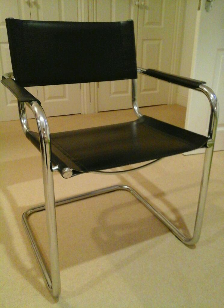 Black & chrome chair