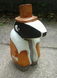 Woodern painted badger.
