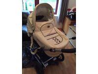 Emmaljunga cream leather pram stroller perfect condition