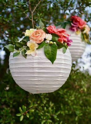 Wedding Ceiling Decorations (US 10PCS White Paper Lantern Wedding Round Shade Grad Party Ceiling Decor)