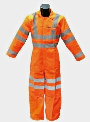 Hi Viz Visibility Coverall Reflective Safety Wear Orange