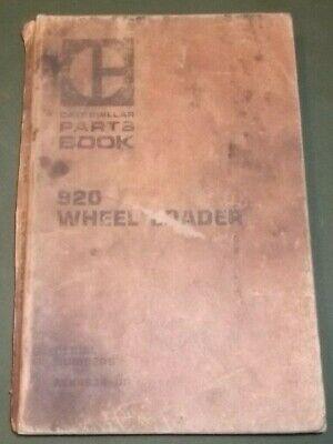 Cat Caterpillar 920 Wheel Loader Parts Manual Book Sn 62k04606-62k07094