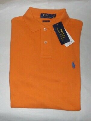 NWT MENS RALPH LAUREN S/S POLO SHIRT~ORANGE~SZ (Ralph Lauren Orange)