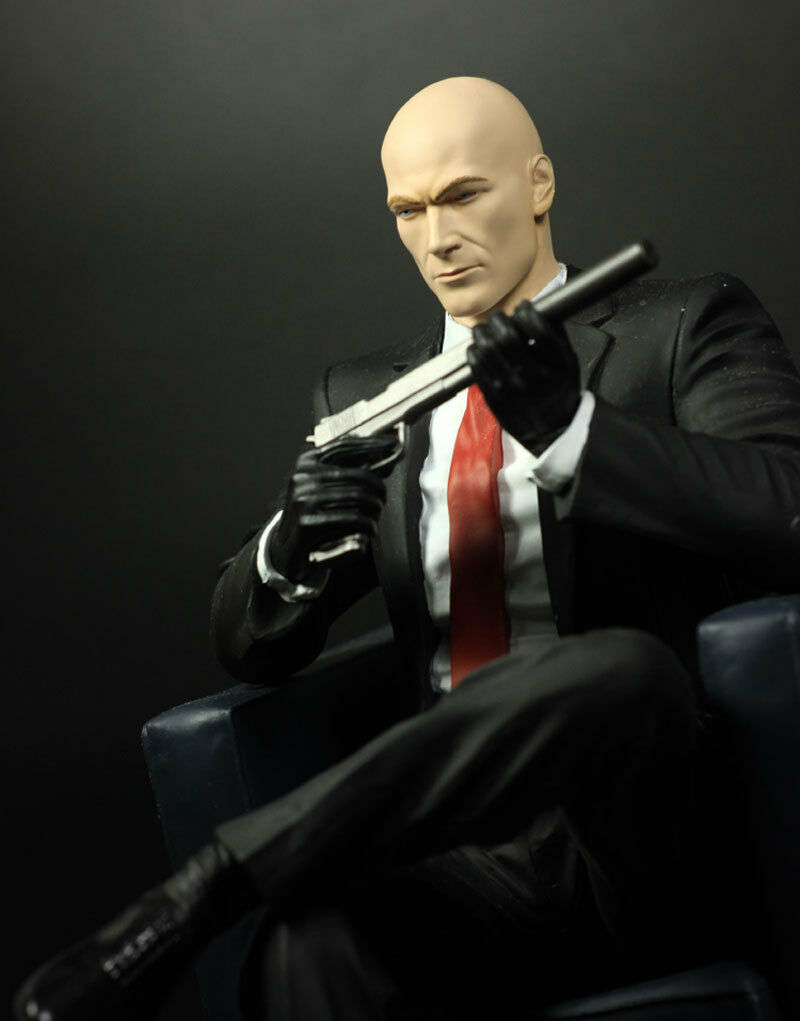 1 6 hitman agent 47 collector 39 s edition chessmaster statue figure ebay. Black Bedroom Furniture Sets. Home Design Ideas
