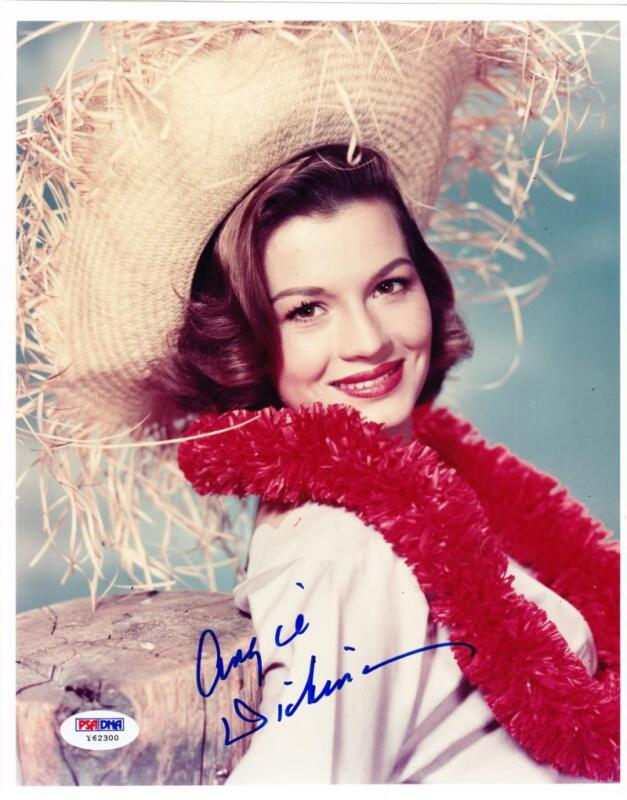 ANGIE DICKINSON SIGNED 8X10 PHOTO HOLLYWOOD LEGEND AUTHENTIC AUTOGRAPH PSA COA