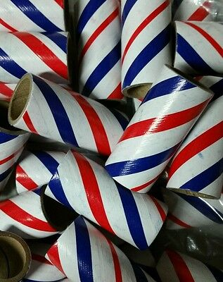 "25 Fireworks M100 Kraft Cardboard Tubes Red/White/Blue 3/4"" x 2-1/8"" x 3/32"""