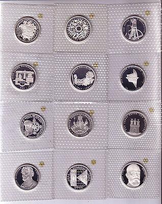 komplette Sammlung der 10 DM Gedenkmünzen in pp von 1987 - 2001 (37 Stück)