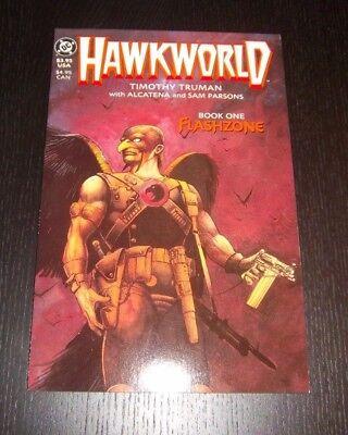 HAWKWORLD BOOK ONE FLASHZONE GRAPHIC NOVEL 1ST PRINTING  GREAT CONDITION 1989