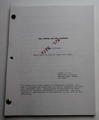 The Indian in the Cupboard / Melissa Mathison 1994 Movie Script, Frank Oz