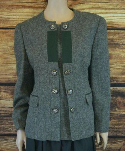 Wool Trachten Tyrolean jacket  Made in Austria Size 40 Grey Folk jacket
