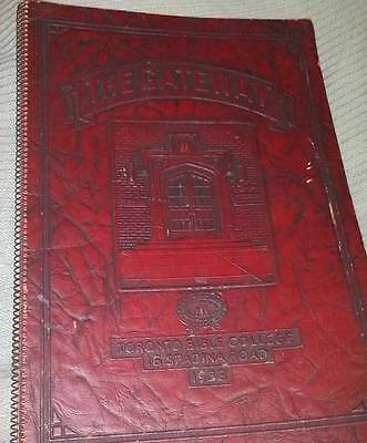 Rare 1938 Toronto Bible College The Gateway Yearbook Annual Very Good Condition
