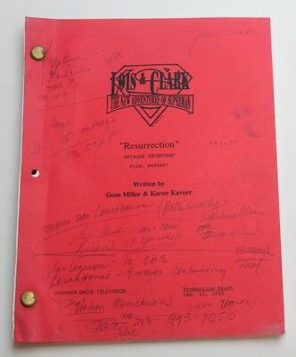 Gene Miller / Lois & Clark, 1995 Superman TV Script, Resurrection
