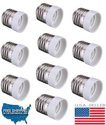 Used, (Pack of 10) E26/E27 to E14 Base LED Light Lamp Bulbs Sockets Adapter Converters for sale  Shipping to India