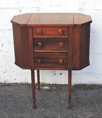 Martha Washington Mahogany Sewing Cabinet Storage Table Nightstand 8240