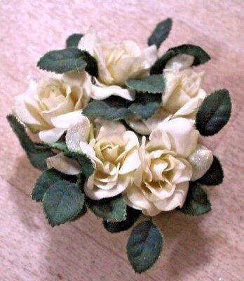 Blumenring für Kerzen Rosen cremefarben (2)