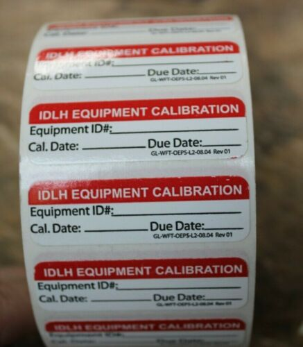 Equipment Calibration label sticker 500pcs / Roll
