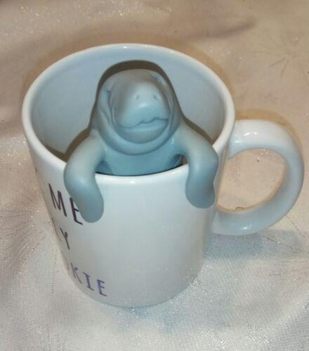 Lustiges Walross Seekuh Teesieb Teefilter Infuser grau Silikon Tee-Ei