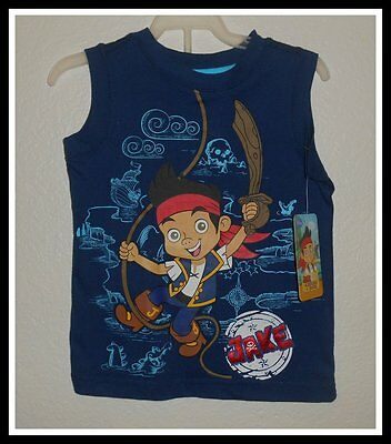 NWT DISNEY JAKE AND THE NEVERLAND PIRATES TANK TOP SHIRT BOYS SIZE 24 MONTHS - Jake And The Neverland Pirate Shirt