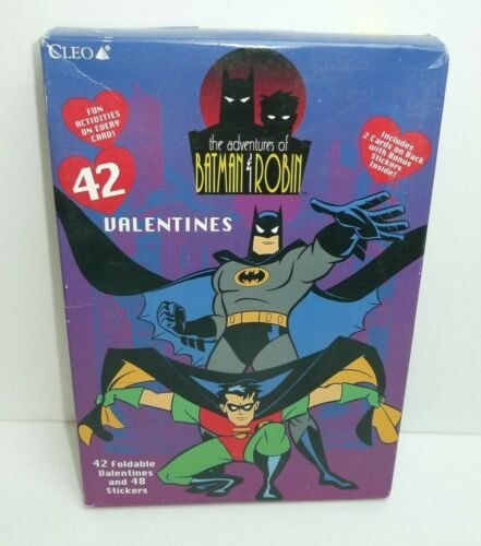 Vintage Batman Adventures of Batman and Robin 1996 Valentines Day cards Animated