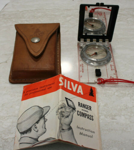 Silva Type 15T COMPASS The Ranger with Leather Case & MANUAL