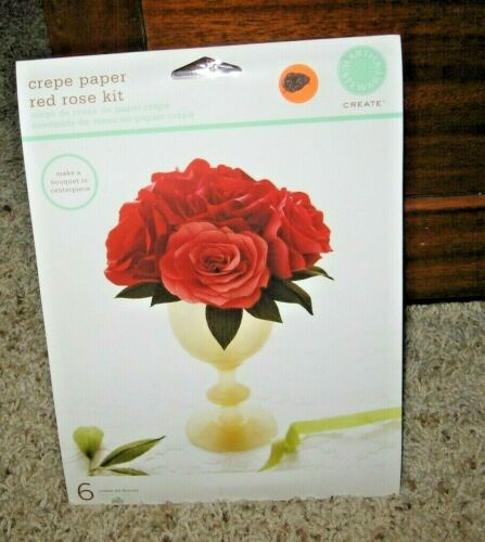 MARTHA STEWART~CREPE PAPER RED ROSE KIT~NEW IN PACKAGE~LOT #E