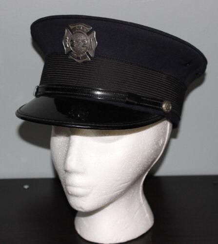 Vintage GRFD Grand Rapids Fire Department 272 Hat Michigan Uniform Cap 7 1/4