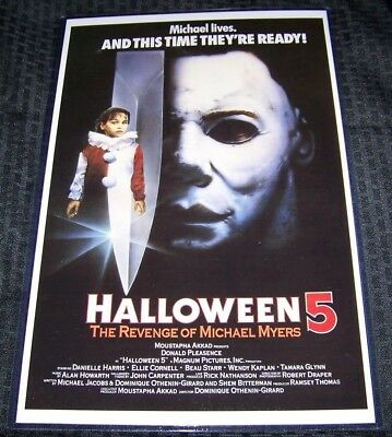 Halloween V 5 11X17 Movie Poster Original Version Don Shanks Danielle - Halloween 5 Poster