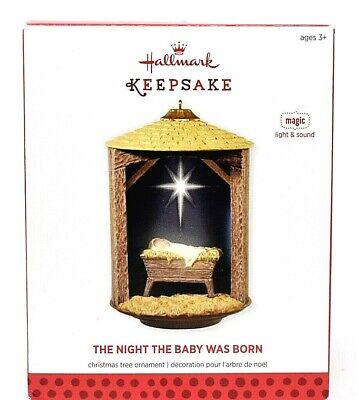 RARE NEW 2013 HALLMARK THE NIGHT THE BABY WAS BORN CHRISTMAS ORNAMENT SCARCE WOW