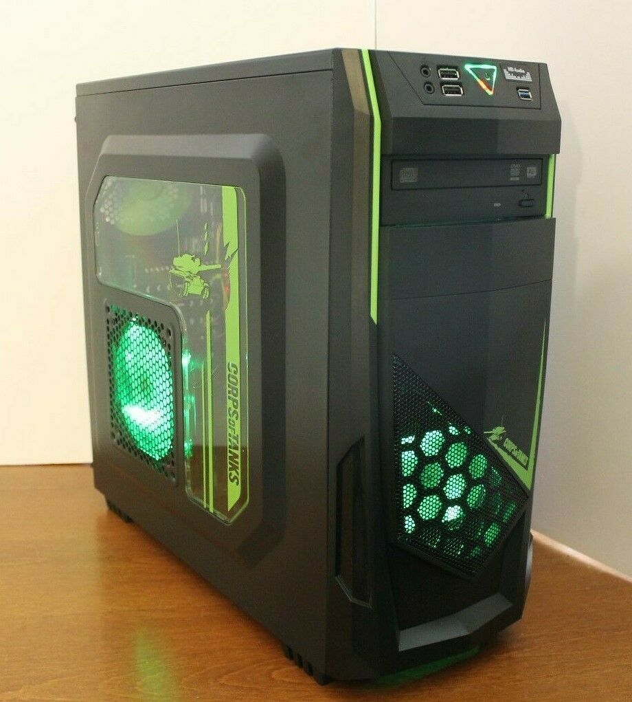 NEW Gaming PC Desktop Computer AMD QUAD CORE 3.7 GHz 500GB 8
