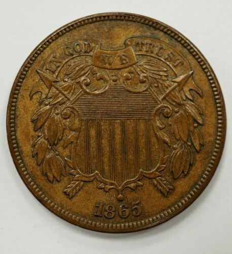 1865 Two Cent -2C Red Brown #39