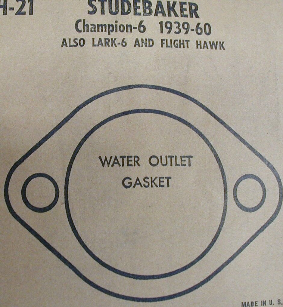 1939-60 Studebaker Champion 6 Cyl Water Outlet  Gasket ; McCORD # 88