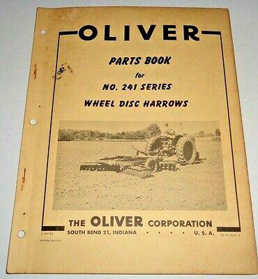 Oliver 241 Series Wheel Disc Harrow Parts Catalog Manual Book Original Disk