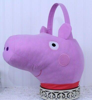 Party Favor/Halloween Peppa Pig Jumbo Plush Basket NEW W/TAG PINK J-63 1 & 2