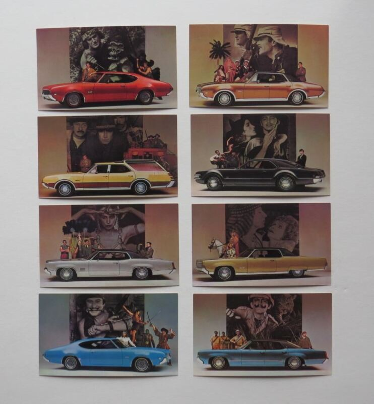 1969 Oldsmobile Postcard Lot Cutlass Delta 88 98 Cruister Toronado 442