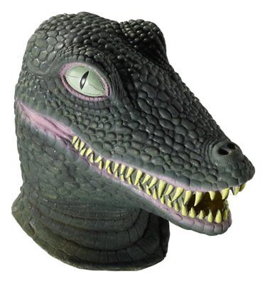 Deluxe Latex Crocodile Alligator Dragon Godzilla Adult Mask Animal Accessory](Latex Dragon Mask)