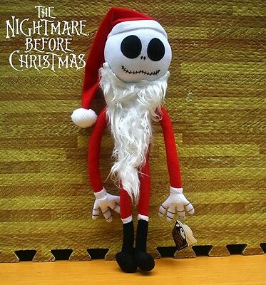 Disney The Nightmare Before Christmas Jack Skellington X'mas Santa Plush Doll