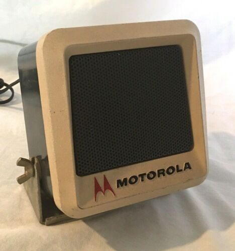 Vintage Motorola LAPD External Police Radio Speaker W/ Brackets  TSN6000A-1