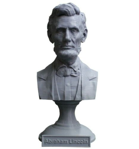 Abraham Lincoln 5 inch 3D Printed Bust USA President #16 Art FREE SHIPPING