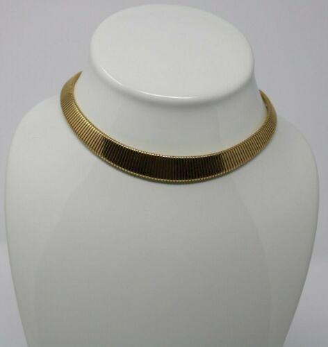 VTG Monet. Omega. Graduated Collar Choker Necklace Flex Gold Fashion