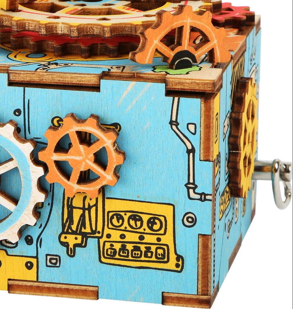 bausatz spieluhr roboter diy zahnrad melodie musik uhr. Black Bedroom Furniture Sets. Home Design Ideas