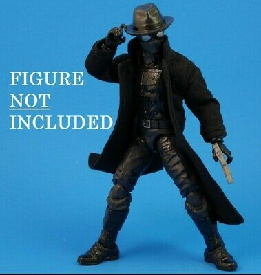 Custom Tailored Black Trench Coat&Hat for Marvel Legend's Spider Noir(NO FIGURE)