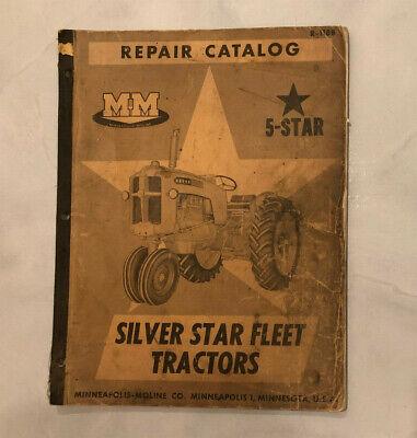 Mm Minneapolis Moline R-1188 5-star Silver Star Fleet Tractors Repair Catalog