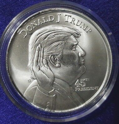 Donald Trump - 45th President of the USA. - 1 oz .999 Solid Silver Round/Coin
