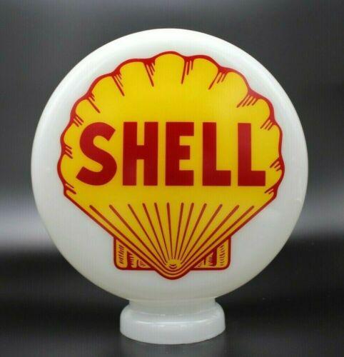 """8"""" Milk Glass SHELL Mini Gas Pump Globe"""