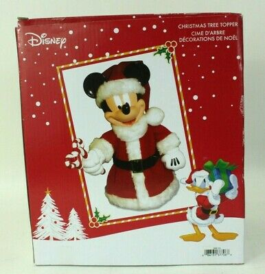Kurt Adler Mickey Mouse Christmas Tree Topper Table Decoration High OPEN BOX
