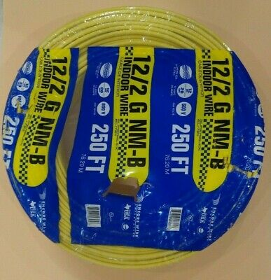 122 Romex Wire 12-2 Awg 250 Non Metallic Cable Copper Electrical Wire Made Usa